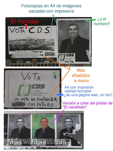 Cartel electoral delCDS.