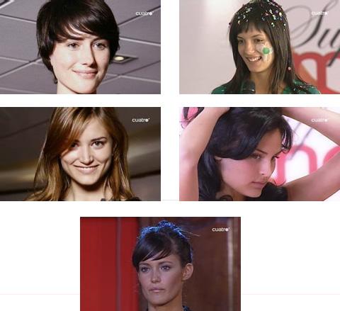 mmm…mmm… mis favoritas de supermodelo 2007 (I->D): Jessica - Magdalena - Alba - Isabel -Gracia