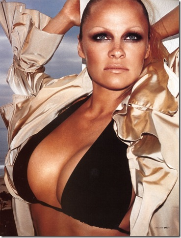 pamela anderson en la revista GQ (2007)